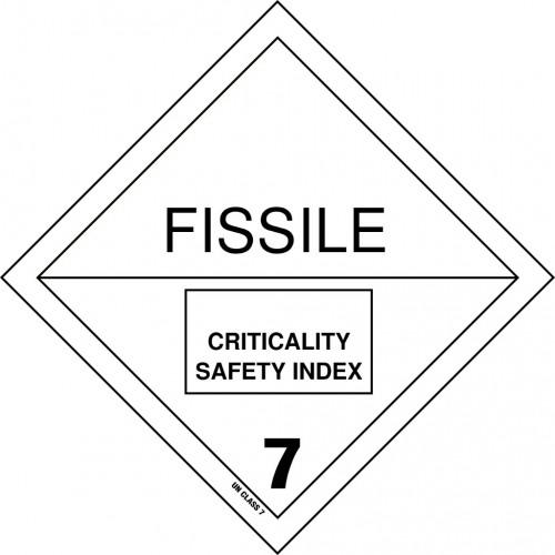 Gefahrgut-Aufkleber Klasse 7: Spaltbare Stoffe