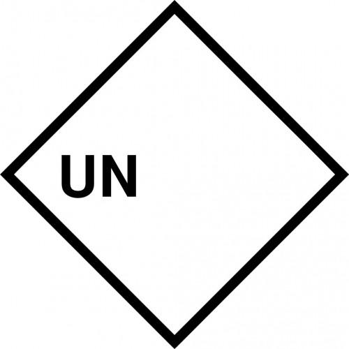 Gefahrgut-Aufkleber mit UN-Nummer, zum Selbstbeschriften