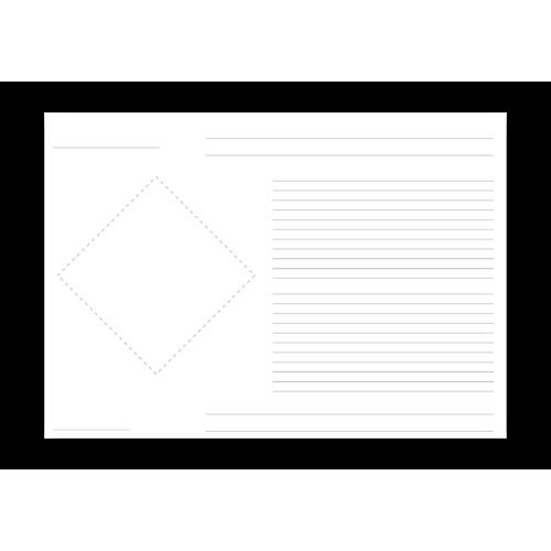 Grundetikett für 1 Piktogramm