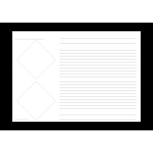Grundetikett für 2 Piktogramme