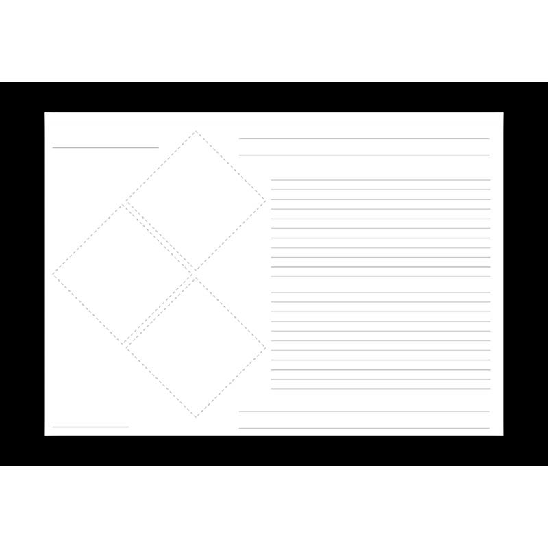 Grundetikett für 3 Piktogramme