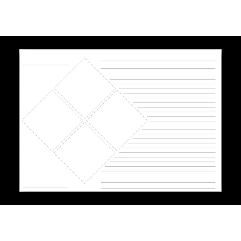 Grundetikett für 4 Piktogramme