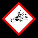 """Gefahrstoff-Piktogramm """"Explodierende Bombe"""" GHS01"""