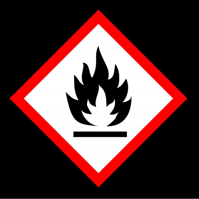 "Gefahrstoff-Piktogramm ""Flamme"" GHS02"