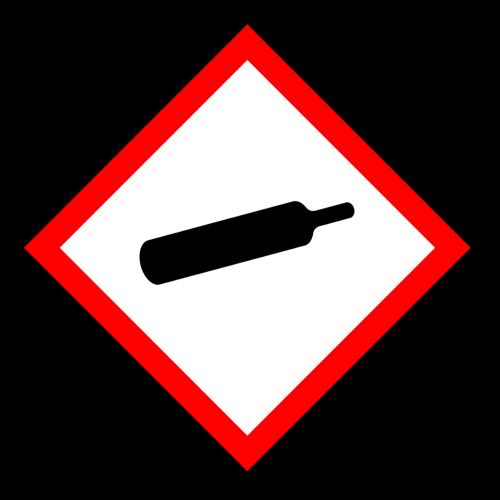"""Gefahrstoff-Piktogramm """"Gasflasche"""" GHS04"""