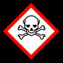 """Gefahrstoff-Piktogramm """"Totenkopf mit gekreuzten Knochen"""" GHS06"""