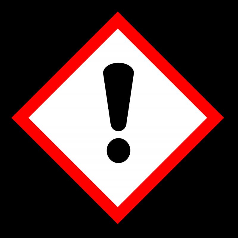 """Gefahrstoff-Piktogramm """"Dickes Ausrufezeichensymbol"""" GHS07"""