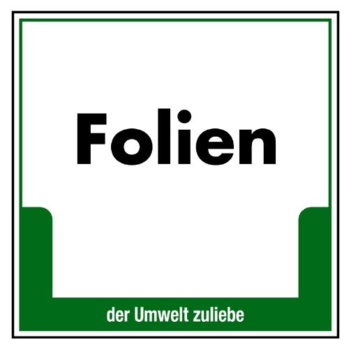 "Umweltschild ""Folien"""