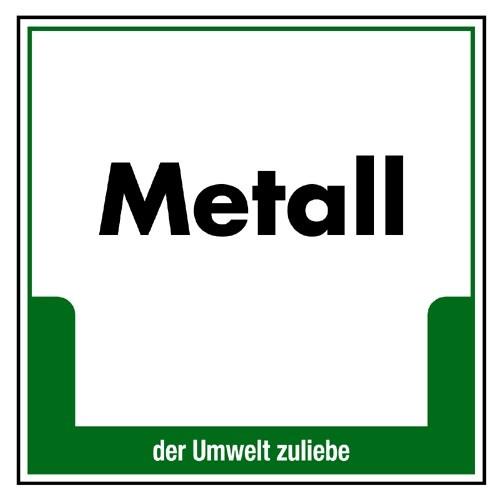 "Umweltschild ""Metall"""