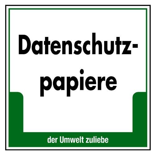 """Umweltschild """"Datenschutzpapiere"""""""