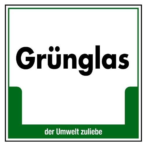 """Umweltschild """"Grünglas"""""""