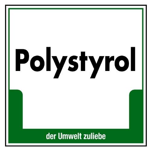 """Umweltschild """"Polystyrol"""""""
