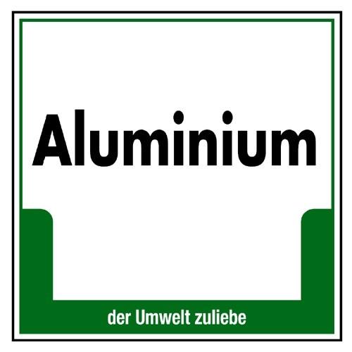 """Umweltschild """"Aluminium"""""""