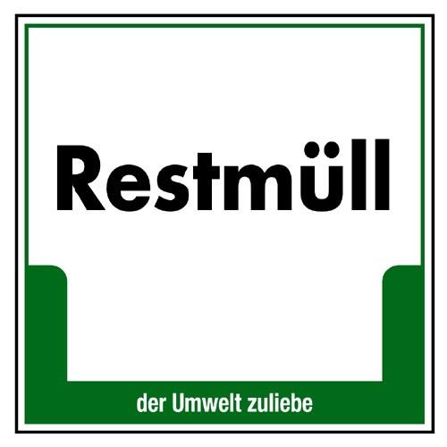 """Umweltschild """"Restmüll"""""""