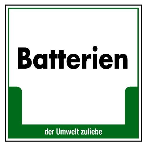 "Umweltschild ""Batterien"""