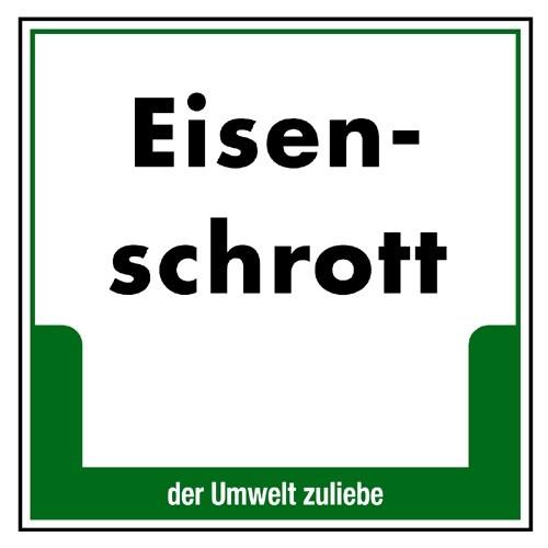 """Umweltschild """"Eisenschrott"""""""