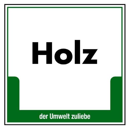 """Umweltschild """"Holz"""""""