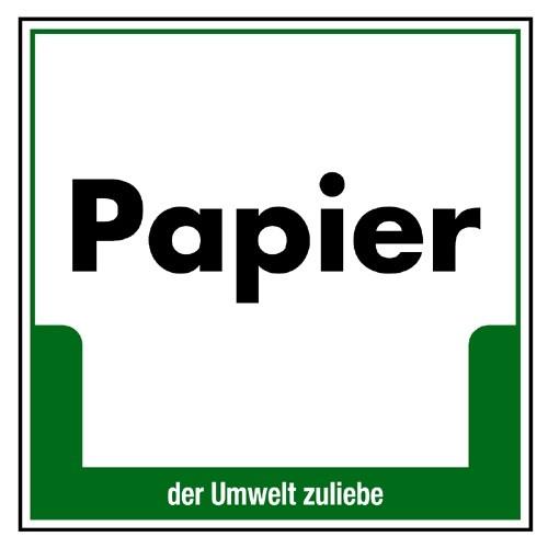 """Umweltschild """"Papier"""""""