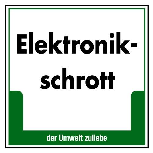 "Umweltschild ""Elektronikschrott"""