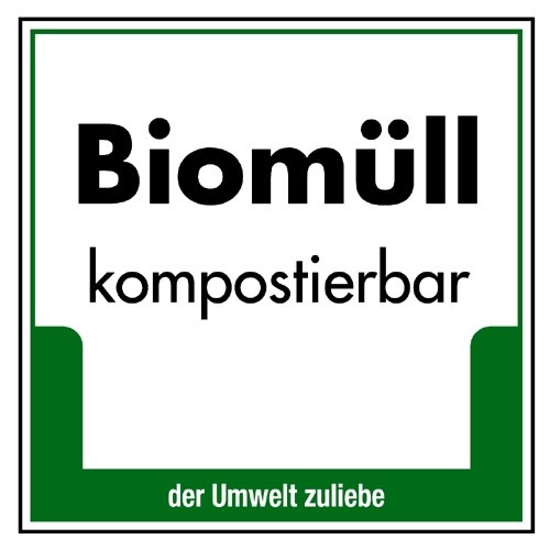 """Umweltschild """"Biomüll (kompostierbar)"""""""