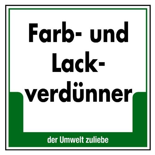 """Umweltschild """"Farb- und Lackverdünner"""""""