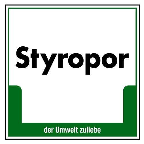 """Umweltschild """"Styropor"""""""