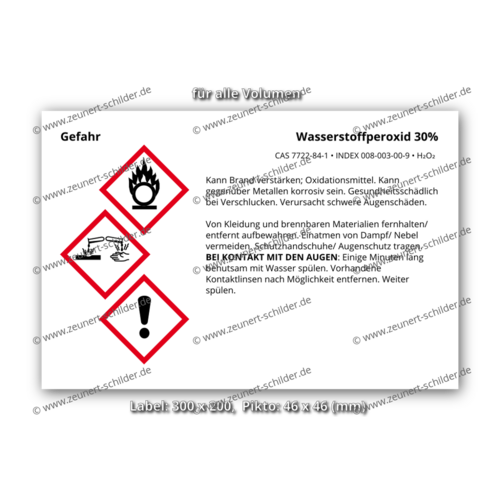 Wasserstoffperoxid 30%, CAS 7722-84-1