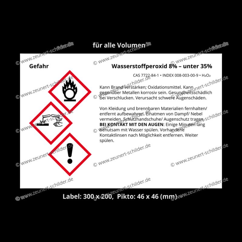 Wasserstoffperoxid 8% – unter 35%, CAS 7722-84-1