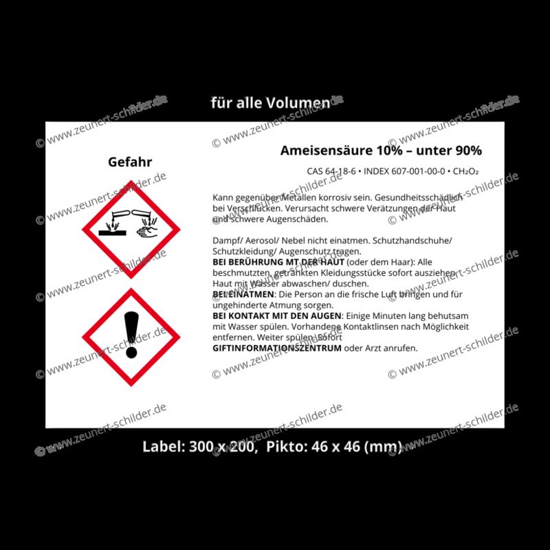 Ameisensäure 10% – unter 90%, CAS 64-18-6