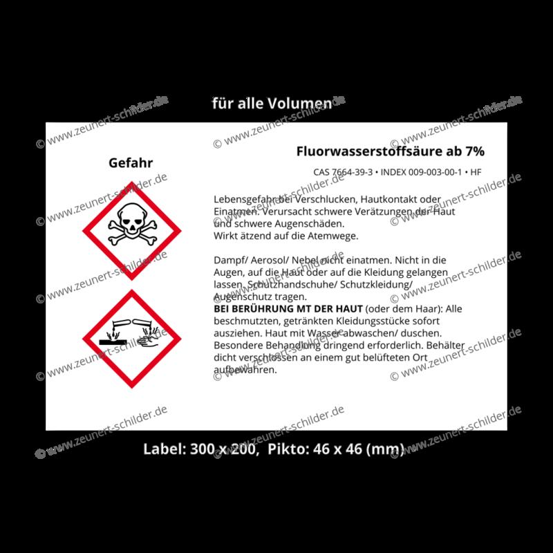 Fluorwasserstoffsäure ab 7%, CAS 7664-39-3