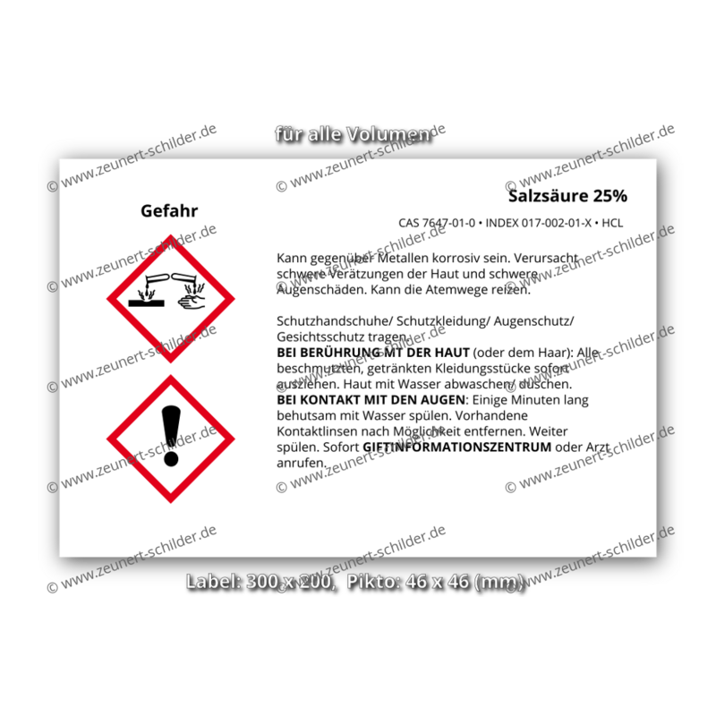 Salzsäure 25%, CAS 7647-01-0