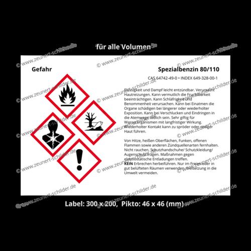 Spezialbenzin 80/110, CAS 64742-49-0