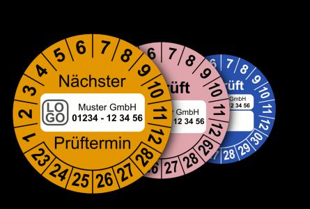 Mehrjahres-Prüfplaketten in neutraler Ausführung (mit Wunschtext)