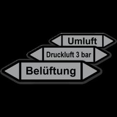 """Rohretiketten """"Luft"""""""