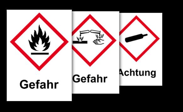 GHS Etiketten, vereinfachte Kennzeichnung