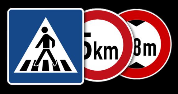 Verkehrsschilder innerbetrieblich