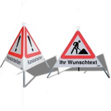 Faltsignale (3-seitige Warnpyramiden)
