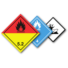 Gefahrgut-Aufkleber (Gefahrzettel o. Placards)