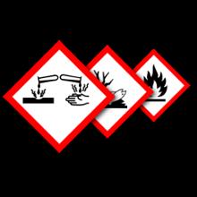 GHS / CLP Gefahrstoff-Piktogramme einzeln