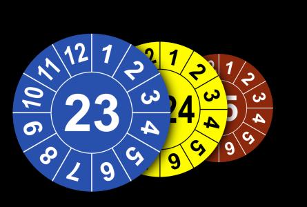 Jahresplaketten mit Farbe nach Wahl