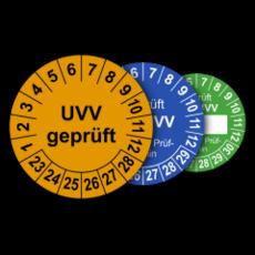 Mehrjahres-Prüfplaketten für Prüfungen nach den Unfallverhütungsvorschriften UVV