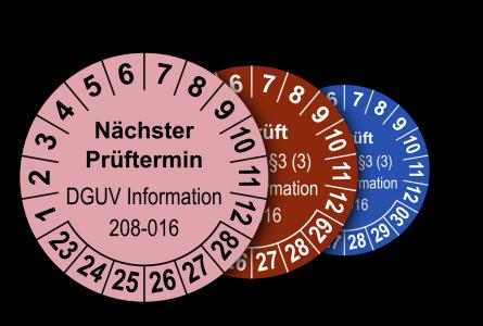 Mehrjahres-Prüfplaketten für Prüfungen von Leitern und Tritten nach DGUV Information 208-016