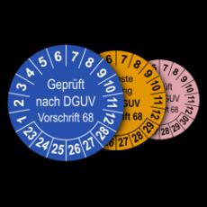 Mehrjahres-Prüfplaketten für Prüfungen von Flurförderzeugen nach DGUV Vorschrift 68