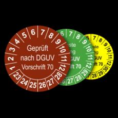 Mehrjahres-Prüfplaketten für Prüfungen von Fahrzeugen nach DGUV Vorschrift 70