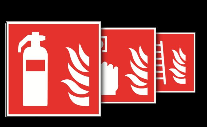 Brandschutzschilder nach ASR A1.3, DIN EN ISO 7010