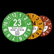 Jahresplaketten mit Farbe nach Wahl (mit Wunschtext)